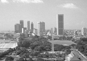 View Singapore Skyline in the 1970s