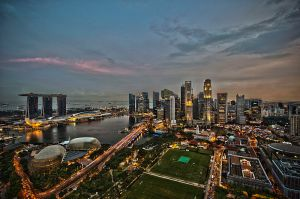Similar view of Singapore Skyline today