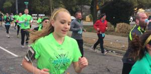 This picture taken of Cameron a mile from the finish line