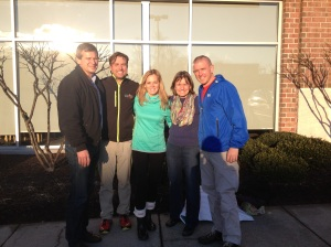 Two families that inspire, with Dave and Grace Gallagher, Pam Cross (Meg's Mom), and Scott Menzies.