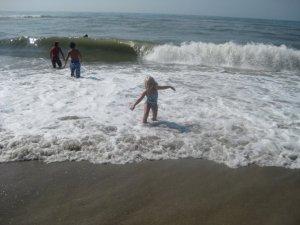 zoe at beach