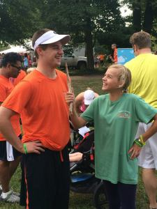 Reilly and EJ, an interview at SpeakUp 5K.